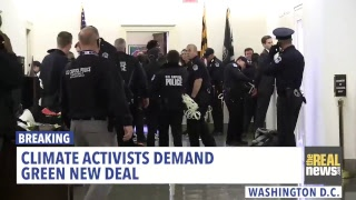 LIVE: Sunrise Movement youth climate activists descend on Capitol demanding a #GreenNewDeal