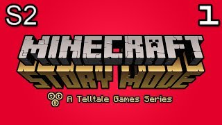 Minecraft Story Mode Let's Play: S2E1 Part 1 - CAVE MONSTER?