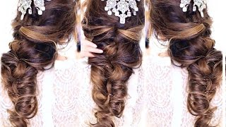 EASY CrissCross Half UPDO HAIRSTYLE 👸★ Wedding Homecoming Hairstyles   MakeupWearables