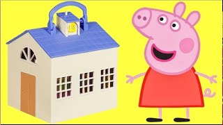 PEPPA PIG School Classroom Play Set, House, George, Zoe Zebra, Madam Gazelle Toy Suprise Game / TUYC