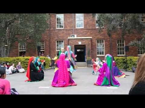 Afghan girl Attan Dance