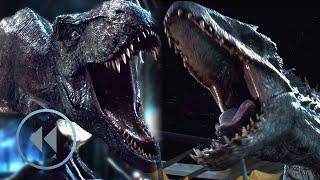 Jurassic World: T-Rex vs Indominus Rex In Reverse