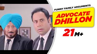 Punjabi Comedy 1 | Carry On Jatta - Advocate Dhillon Funny Family Arguments | Comedy Scene