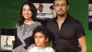 Sonu Nigam His Wife & Son At Sachin Movie Screening   BollywoodKilla