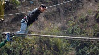 Nepali Best Ultimate Canyon Swing || Nabin Shrestha || Bhote Khoshi,Sindhupalchowk