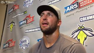Tebow talks baseball progress, lessons learned as he leaves Columbia