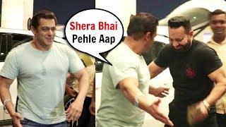 Salman Khan Sweet Behaviour With Bodyguard Shera