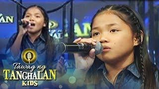 Tawag ng Tanghalan Kids: Lorraine sings her own version of