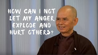How can I not let my anger explode?