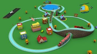 Trains for children - cartoon for kid - choo choo train - kids railway - Toy Factory cartoon