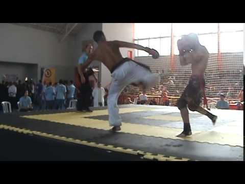 Sanda vs Tae Kwon Do no 7° campeonato de kung fu aberto de Santo Amaro