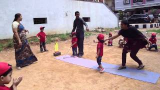 Kids playing Cricket at hello kids play school