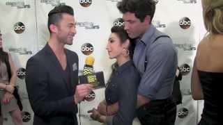 Dancing With The Stars Red Carpet | Meryl Davis & Maksim Chmerkovskiy | AfterBuzz TV May 12th 2014
