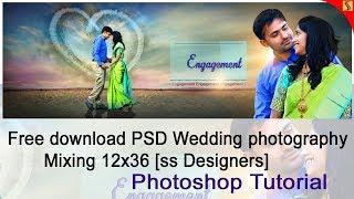 FREE PSD & How to Design ENGAGEMENT ALBUM 12 X 36 Templates Photoshop Tutorial[ss free psd]#264
