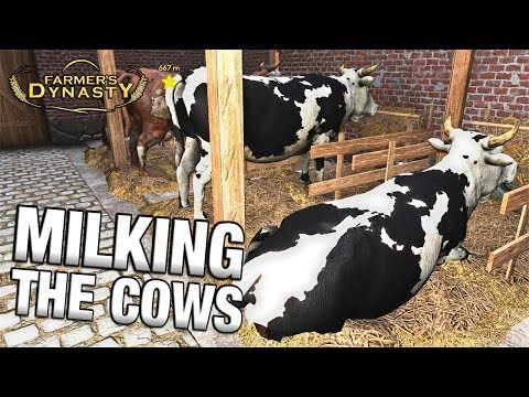 MILKING THE COWS | Farmer's Dynasty Episode 23