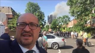 """المبنى المحترق """"يعود إلى سبعينيات القرن الماضي ورمم قبل عام"""""""