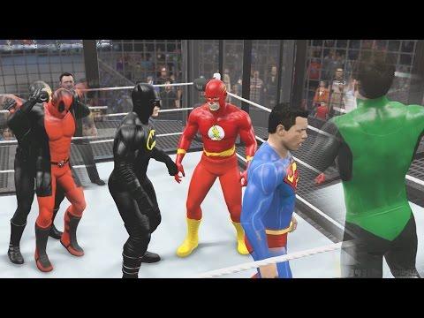WWE 2K15 - DEATHSTROKE VS DEADPOOL VS BATMAN VS SUPERMAN ... | 480 x 360 jpeg 35kB