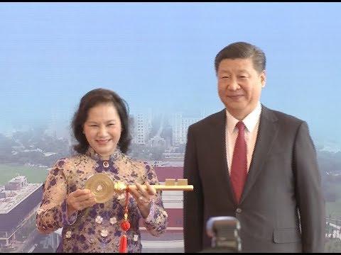 Chinese President Xi Jinping Inaugurates Vietnam China Friendship Palace