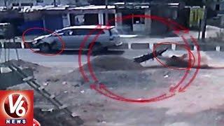 TS Minister's Convoy Vehicle Hits Two Wheeler, 1 Dead | Nirmal | V6 News