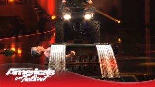 Brad Byers - Performer Lays on Bed of Nails While an ATV Runs Over Him - America's Got Talent 2013