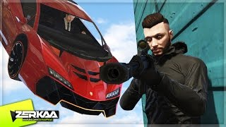 SNIPERS VS SPINNING CARS (GTA 5 Funny Moments)