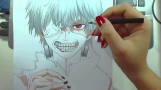 Speed Drawing - Kaneki Ken (Tokyo Ghoul)