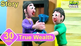 True Wealth Story | Panchatantra Stories for Children | Stop Motion Animation English Stories