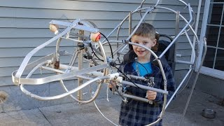Wow, Dad is building son a very realistic Raptor costume