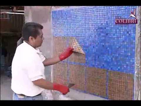 Instalacion Mosaico Veneciano Metodo tradicional COLIBRIMTY