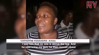 Retired soldier, Kasilye Gwanga shoots Catherine Kusasira's car tyre
