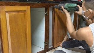 Build & Install Frame Under Kitchen Cabinets - Amazing Woodworking Skills Extremely Smart Carpenter