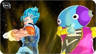 Vegito and Zen-Oh Fusion: ULTRA INSTINCT Zengito VS Daishinkan & Whis Dragon Ball Super Xenoverse 2