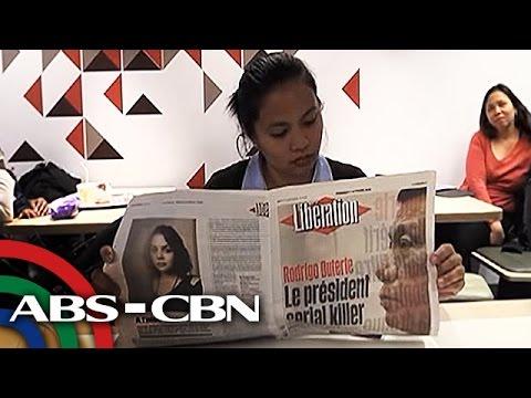 TV Patrol: Ilang Pinoy sa France, umalma sa bansag kay Duterte na 'serial killer'