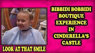 Dad films Bibbidi Bobbidi Boutique in Cinderella's Castle with Photo Shoot in Magic Kingdom.