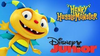 Henry Hugglemonster Cartoon Clip Puzzle Game - Disney Junior App For Kids