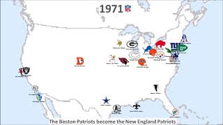 NFL team and logo history 1920 - 2017