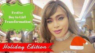 Festive Boy to Girl Transformation Vlog || Jandrogen