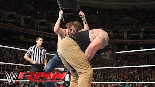 Dean Ambrose vs. Braun Strowman: Raw, March 21, 2016