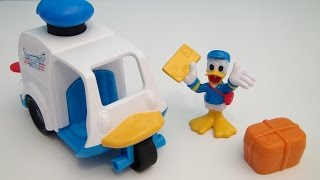MICKEY MOUSE CLUBHOUSE MAIL TOSS TRUCK PLAYSET WITH DONALD DUCK VIDEO TOY REVIEW
