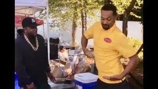 Mike Epps TEACHES Big Boi Outkast How To Milly Rock On The Set Of ATL 2!