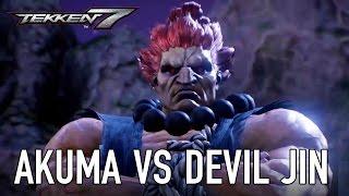 Tekken 7 - PS4/XB1/PC - Akuma VS Devil Jin (Character Gameplay)