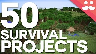 50 Projects For Your Minecraft Survival Worlds!