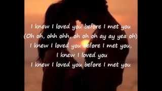 Savage Garden-I Knew I Loved You lyrics