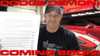 Dodge Challenger SRT Demon Ordered - Get ready to sign your life away for speed!