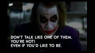 The Joker best quotes (Heath Ledger) أفضل قولات الجوكر