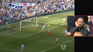 Last five minutes of Manchester City 3 QPR 2 / SUN v MUFC