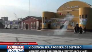 VIOLENCIA EN CASA GRANDE
