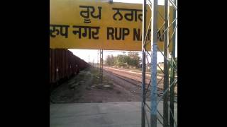 With Wap4 Ghaziabad Powered UHL NED WEEKLY SUPERFAST ARRIVES RUPNAGAR PERFECTLY