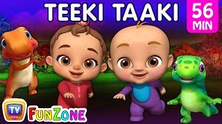 Teeki Taaki Action Song   Popular 3D Nursery Rhymes & Baby Songs for Babies   ChuChu TV Funzone