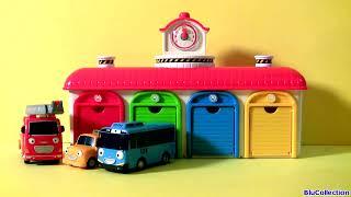 Tayo the Little Bus Garage Station Toys Playset - тайо маленький автобус Игрушки - 타요 꼬마버스 타요 중앙차고지